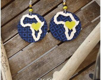 African blue earring