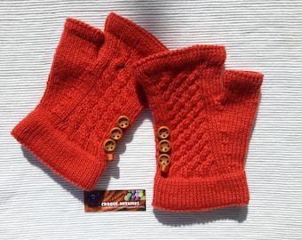 Perfect gift: hand knitted handmade mittens