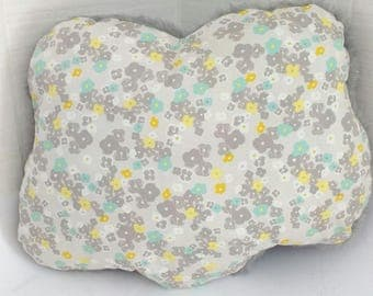 Floral cloud cushion