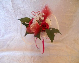 Red and white Bridesmaids Bouquet