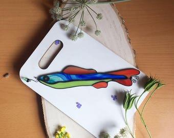 Stained glass suncatcher ~ Fish ~ Tiffany technique ~ Original design ~ Stunning home decor ~ Art Glass ~ Handmade