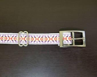 "1"" Purple Jacquard Dog Collar"