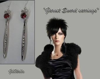 """The Garnet Sword"" BO Garnet & silver"