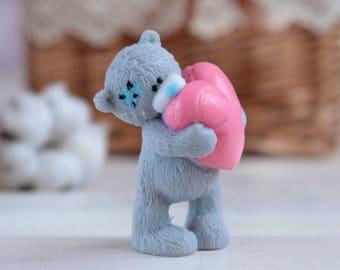 babys gift vegans soap teddy bear cute gift for daughter