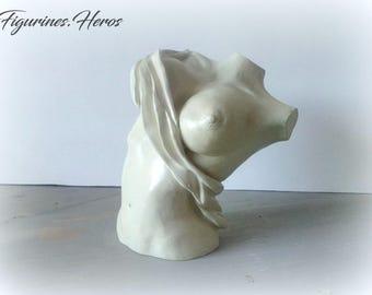 Sensual woman ceramic statuette