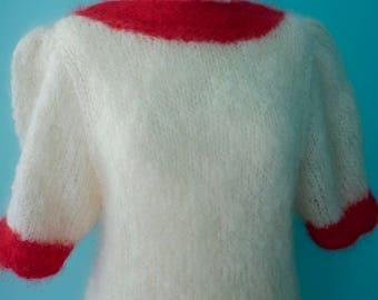 50's style mohair hand knit