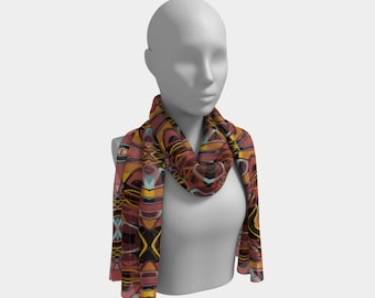 "Beautiful Scarf, Head Scarf, ""Zombie Loops, Made to order"""