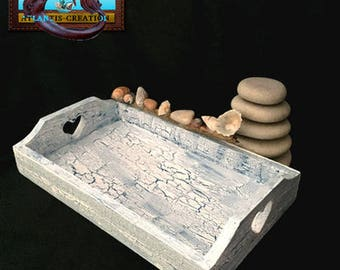 TRAY CAMARGUE tray wood Crackle effect and decor made with Driftwood