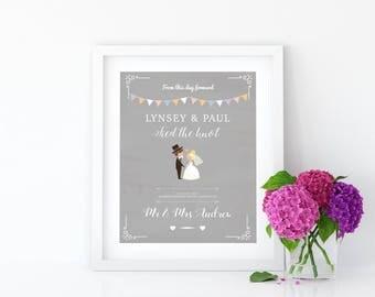 Personalised Wedding Details Print