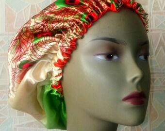 satin bonnet double lined