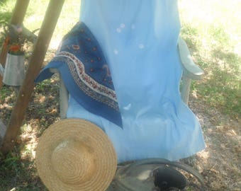 Vintage Nightgown colored sky blue