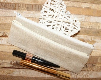 Pouch / Holster toothbrush coated linen