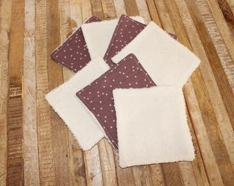 Set of 7 wipes / washable cottons
