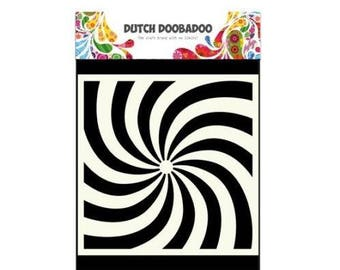 Stenciled Dutch Doobadoo Mask Stencil Art Spiral new
