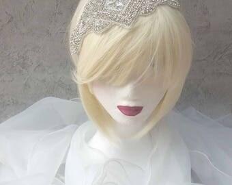 Magnificent headband headpiece wedding or cocktail