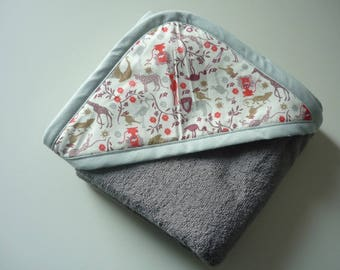 Animals Hooded baby towel - can be PERSONALIZED with name