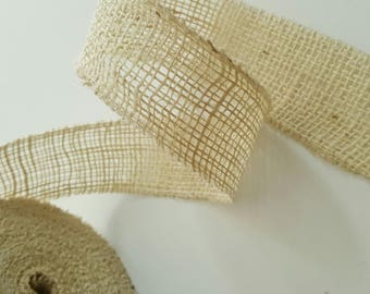 Cream canvas - 5cm - burlap Ribbon