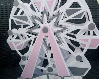Ferris wheel Carnival to order for table centerpiece, for candy bar, christening, baby shower