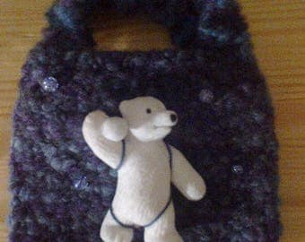 Small knitted bag for little girls