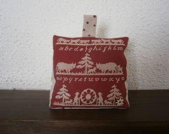 Cross-stitched Poya mountain DoorStop