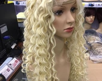 Blonde Synthetic Curly Wig