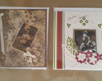 Set of 2 3d cards for the holiday season.