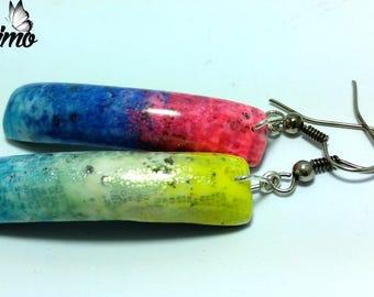 """Earrings """"Rainbow"""" polymer clay"""