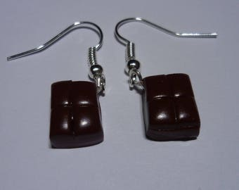 Earrings in polymer clay chocolate