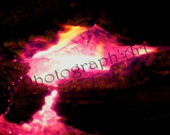Photography art - fire and embers: 30 x 20