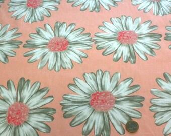 100% cotton 45 cm x 45 cm Gerbera flowers fabric coupon