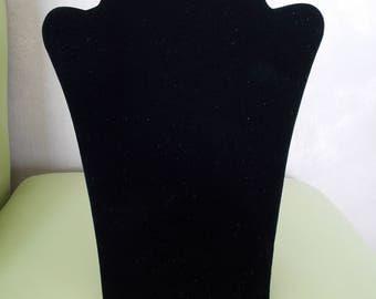 for black velvet jewelry bust display