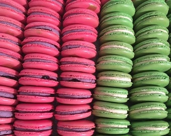 Wedding favours French Macarons DIY /also great for dessert tables and macarons tower/available in any colour