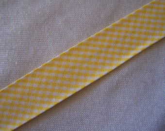 Through yellow gingham, width 40/20 mm (Bi-19020)
