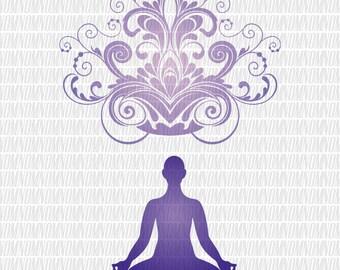 Yoga SVG - Yoga Bundles - Yoga Silhouette - Yoga Vector - Yoga Clip Art - Meditations Yoga