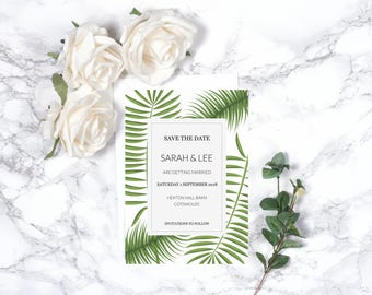 Botanical Wedding Save the Date – Personalised – A5
