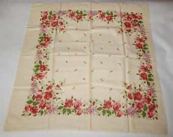 vintage wool handkerchief from the Soviet Union  4903