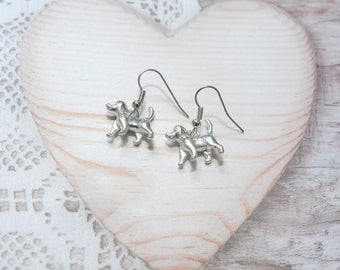 Pair of dangle earrings jewelry dog