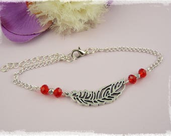 Anklet - Red Feather