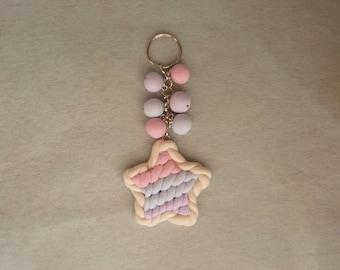 Star Keychain with beads