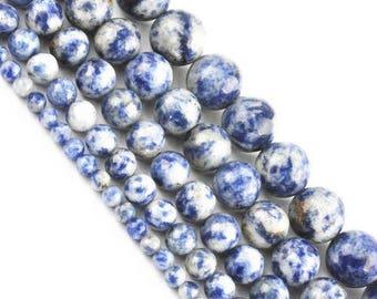8 x 10 mm sodalite round bead
