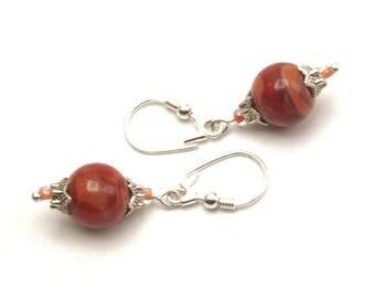 Earrings earrings A85 - red Lampwork Glass beads earrings