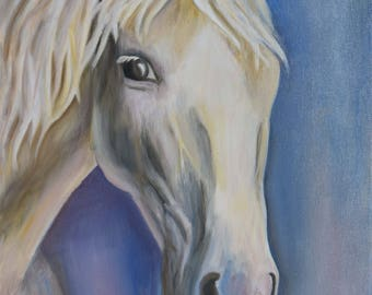 Horse head oil on canvas painting