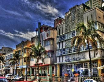 Ocean Drive Beach Front Miami Beach Fine Art Photography