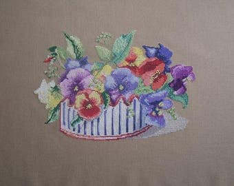 """Embroidery """"the charm of thought"""" cross stitch"""