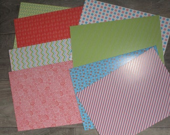 set of 8 ice sheets A4 theme multicolored