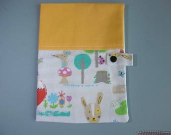 Health booklet protection cover embroidered with baby's name