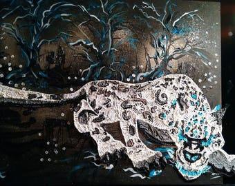 "Painting acrylic paint and 3D pen ""wreck ' nahak"""