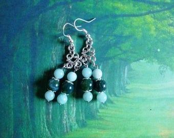 Tender earrings grasses