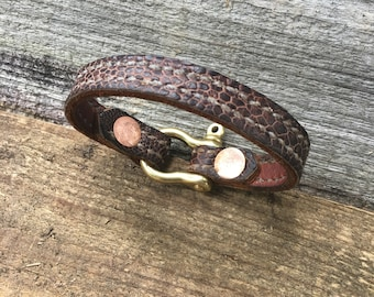 Ostrich Leather Bracelet For Men