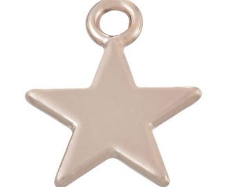 Star 10 charms pendants gold 15 x 11 mm within 15 days